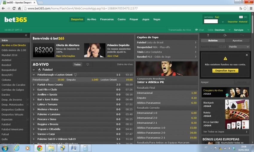 Fazer trading na bet365