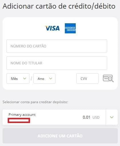 adicionar cartão de crédito